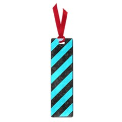 Stripes3 Black Marble & Turquoise Colored Pencil (r) Small Book Marks