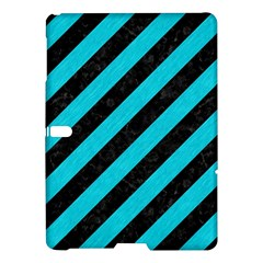 Stripes3 Black Marble & Turquoise Colored Pencil (r) Samsung Galaxy Tab S (10 5 ) Hardshell Case