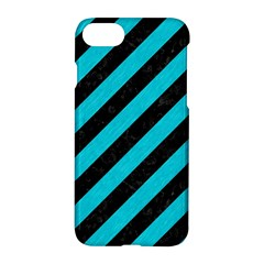 Stripes3 Black Marble & Turquoise Colored Pencil (r) Apple Iphone 7 Hardshell Case