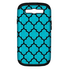 Tile1 Black Marble & Turquoise Colored Pencil Samsung Galaxy S Iii Hardshell Case (pc+silicone)