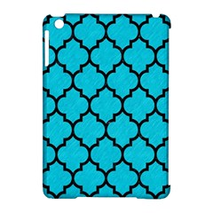 Tile1 Black Marble & Turquoise Colored Pencil Apple Ipad Mini Hardshell Case (compatible With Smart Cover)