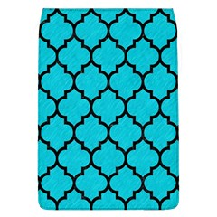 Tile1 Black Marble & Turquoise Colored Pencil Flap Covers (l)