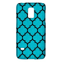 Tile1 Black Marble & Turquoise Colored Pencil Galaxy S5 Mini