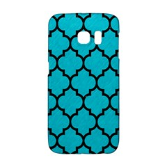 Tile1 Black Marble & Turquoise Colored Pencil Galaxy S6 Edge