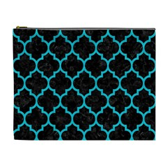 Tile1 Black Marble & Turquoise Colored Pencil (r) Cosmetic Bag (xl)