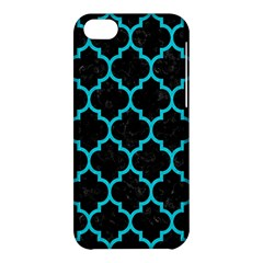 Tile1 Black Marble & Turquoise Colored Pencil (r) Apple Iphone 5c Hardshell Case