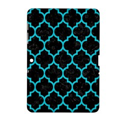 Tile1 Black Marble & Turquoise Colored Pencil (r) Samsung Galaxy Tab 2 (10 1 ) P5100 Hardshell Case