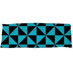 Triangle1 Black Marble & Turquoise Colored Pencil Body Pillow Case Dakimakura (two Sides)