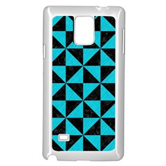 Triangle1 Black Marble & Turquoise Colored Pencil Samsung Galaxy Note 4 Case (white)