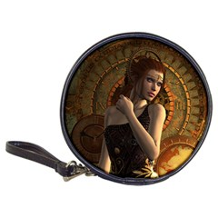 Wonderful Steampunk Women With Clocks And Gears Classic 20 Cd Wallets