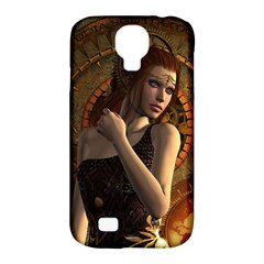 Wonderful Steampunk Women With Clocks And Gears Samsung Galaxy S4 Classic Hardshell Case (pc+silicone)