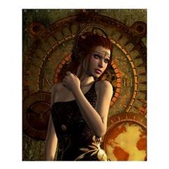 Wonderful Steampunk Women With Clocks And Gears Shower Curtain 60  X 72  (medium)