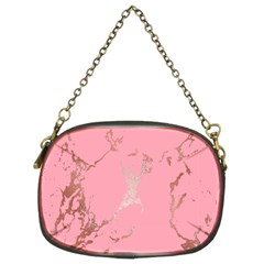 Luxurious Pink Marble Chain Purses (two Sides)