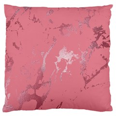 Luxurious Pink Marble Large Flano Cushion Case (two Sides)