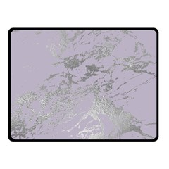 Luxurious Pink Marble Double Sided Fleece Blanket (small)