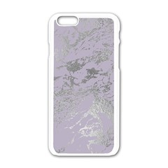 Luxurious Pink Marble Apple Iphone 6/6s White Enamel Case