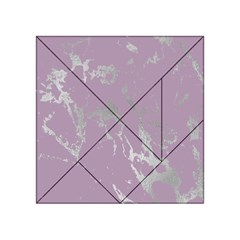 Luxurious Pink Marble Acrylic Tangram Puzzle (4  X 4 )