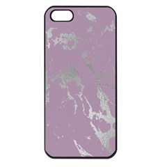 Luxurious Pink Marble Apple Iphone 5 Seamless Case (black)