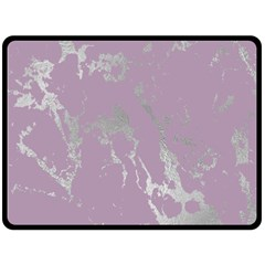 Luxurious Pink Marble Double Sided Fleece Blanket (large)