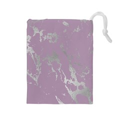 Luxurious Pink Marble Drawstring Pouches (large)