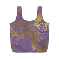 Luxurious Pink Marble Full Print Recycle Bags (m)