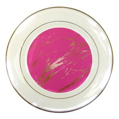 Luxurious Pink Marble Porcelain Plates