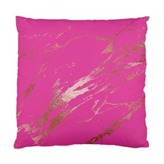 Luxurious Pink Marble Standard Cushion Case (one Side)