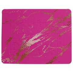 Luxurious Pink Marble Jigsaw Puzzle Photo Stand (rectangular)