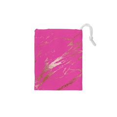 Luxurious Pink Marble Drawstring Pouches (xs)