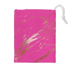 Luxurious Pink Marble Drawstring Pouches (extra Large)