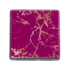 Luxurious Pink Marble Memory Card Reader (square)