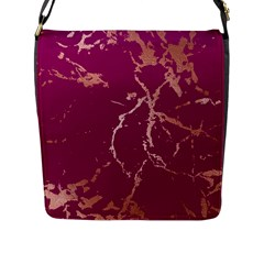 Luxurious Pink Marble Flap Messenger Bag (l)