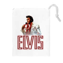 Elvis Presley Drawstring Pouches (extra Large)