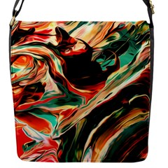 Abstract Acryl Art Flap Messenger Bag (s)
