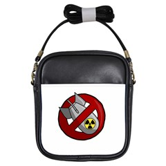 No Nuclear Weapons Girls Sling Bags