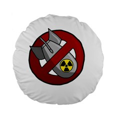 No Nuclear Weapons Standard 15  Premium Round Cushions
