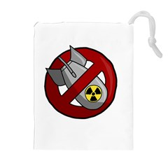 No Nuclear Weapons Drawstring Pouches (extra Large)