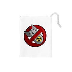 No Nuclear Weapons Drawstring Pouches (small)