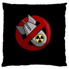 No Nuclear Weapons Large Cushion Case (two Sides)
