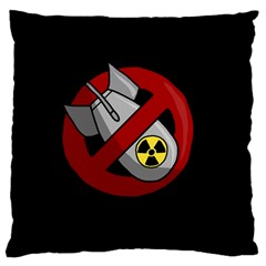 No Nuclear Weapons Large Flano Cushion Case (two Sides)