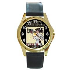 Good Housekeeping Round Gold Metal Watch