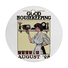 Good Housekeeping Round Ornament (two Sides)