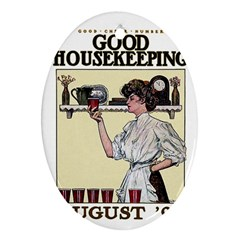 Good Housekeeping Oval Ornament (two Sides)