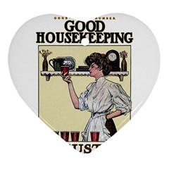 Good Housekeeping Heart Ornament (two Sides)