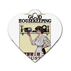 Good Housekeeping Dog Tag Heart (one Side)
