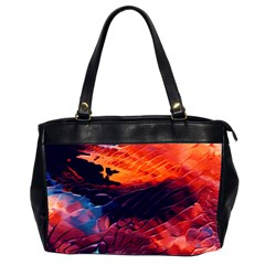 Abstract Acryl Art Office Handbags (2 Sides)