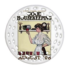 Good Housekeeping Round Filigree Ornament (two Sides)