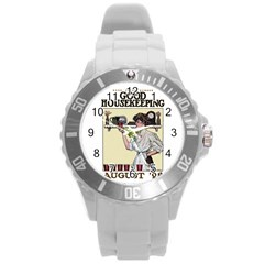 Good Housekeeping Round Plastic Sport Watch (l)