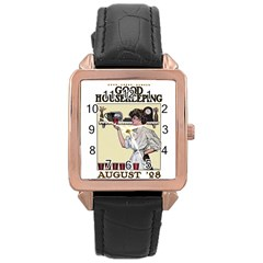 Good Housekeeping Rose Gold Leather Watch