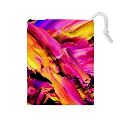 Abstract Acryl Art Drawstring Pouches (large)